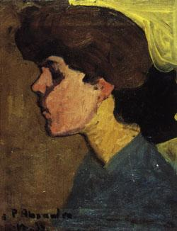 Amedeo Modigliani Head of a Woman in Profile oil painting image