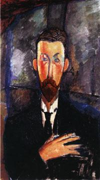 Amedeo Modigliani Portrait of Paul Alexandre in Front of a Window oil painting image