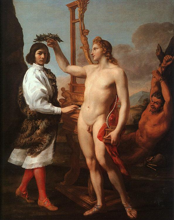 Andrea Sacchi Marcantonio Pasquilini Crowned by Apollo Sweden oil painting art