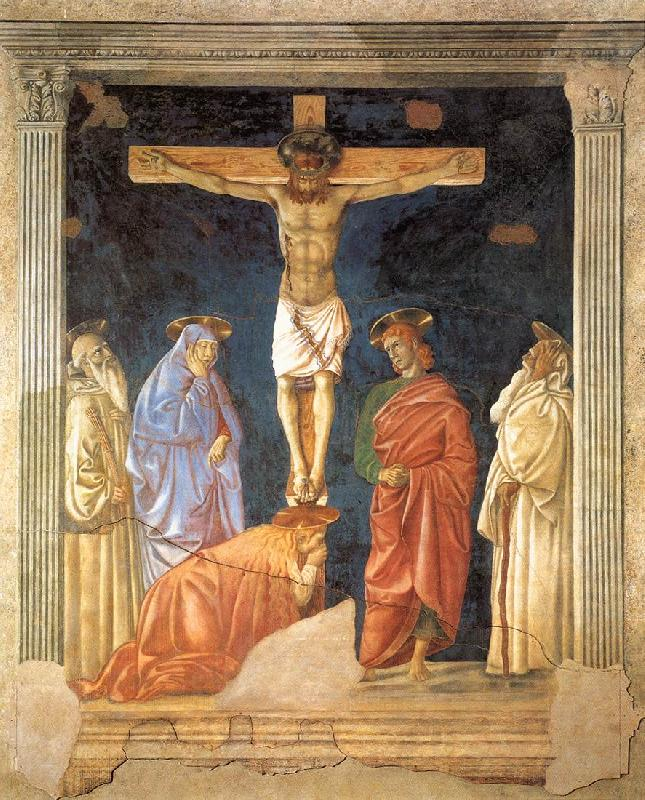 Andrea del Castagno Crucifixion and Saints oil painting image