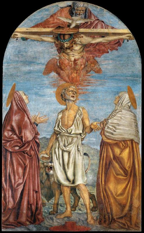 Andrea del Castagno The Holy Trinity, St Jerome and Two Saints Sweden oil painting art