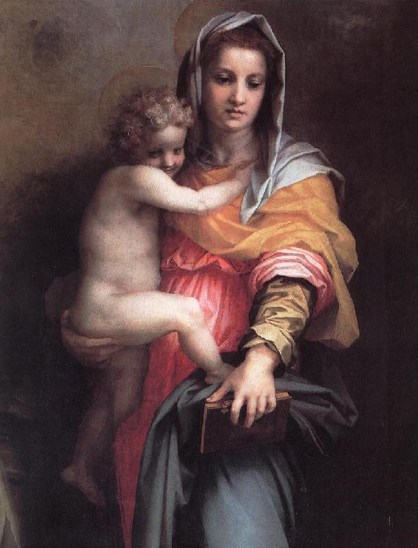 Andrea del Sarto Madonna of the Harpies (detail)  fgfg Sweden oil painting art