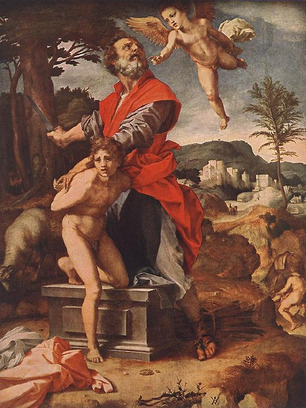 Andrea del Sarto The Sacrifice of Abraham Sweden oil painting art