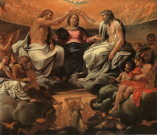 Annibale Carracci  The Coronation of the Virgin oil painting image