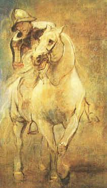 Anthony Van Dyck Soldier on Horseback oil painting image