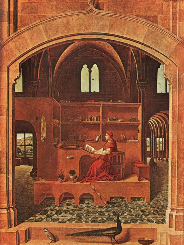 Antonello da Messina St.Jerome in his Study Sweden oil painting art