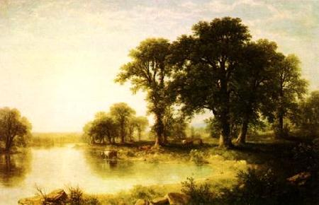 Asher Brown Durand Summer Afternoon Sweden oil painting art