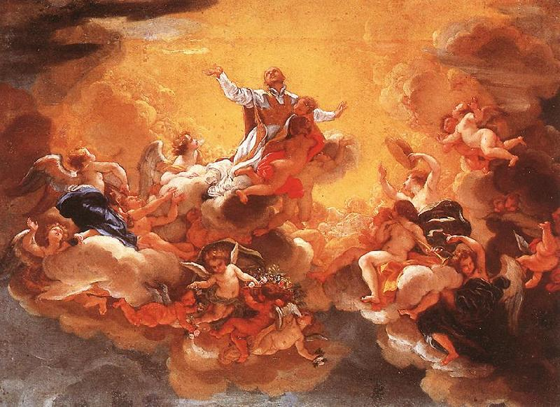 BACCHIACCA Apotheosis of St Ignatius  hh oil painting image