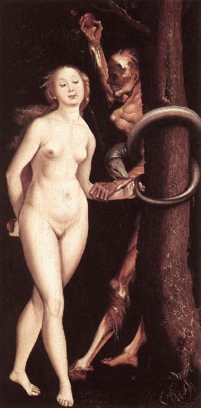 BALDUNG GRIEN, Hans Eve, the Serpent, and Death oil painting image