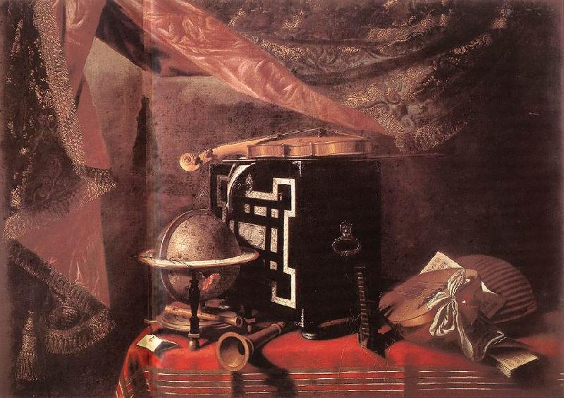 BASCHENIS, Evaristo Still-life with Instruments ll oil painting image