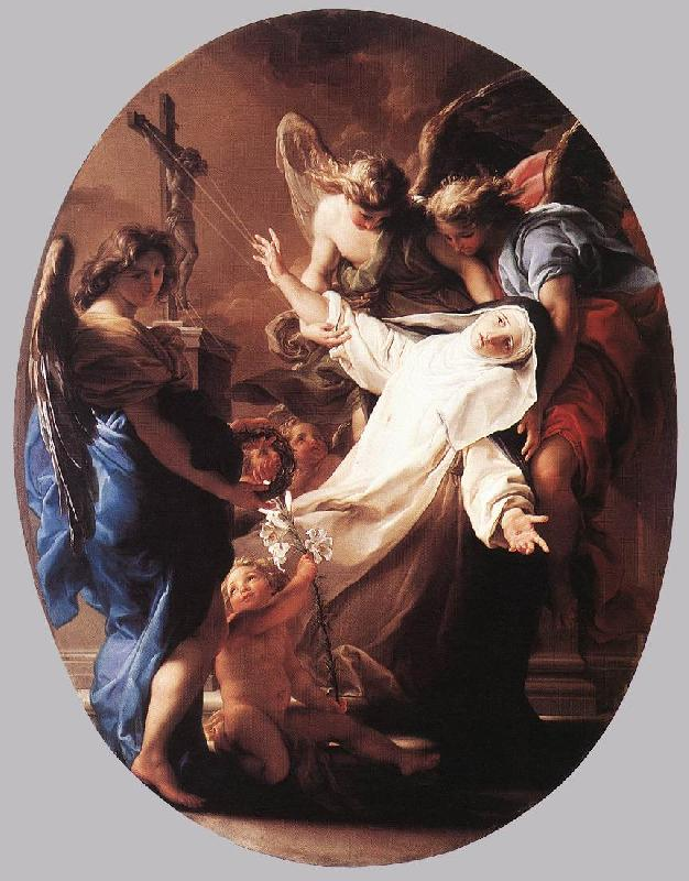 BATONI, Pompeo The Ecstasy of St Catherine of Siena Sweden oil painting art