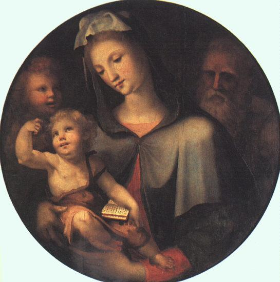 BECCAFUMI, Domenico The Holy Family with Young Saint John dfg Sweden oil painting art