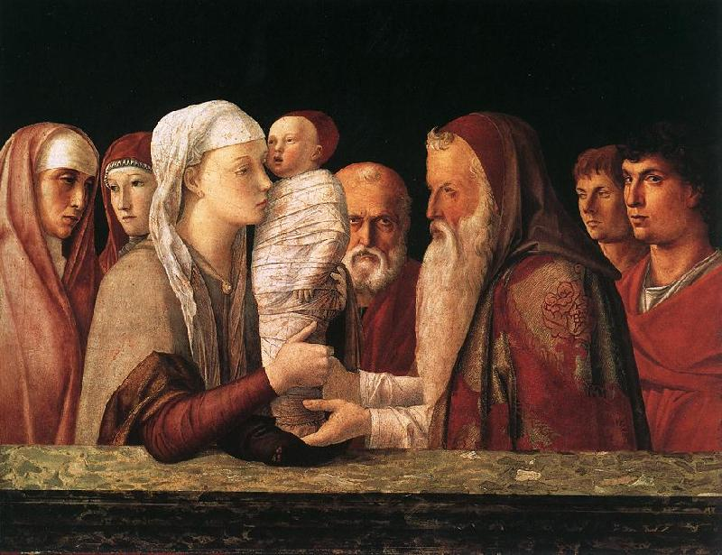 BELLINI, Giovanni Presentation at the Temple  yrfuy Sweden oil painting art