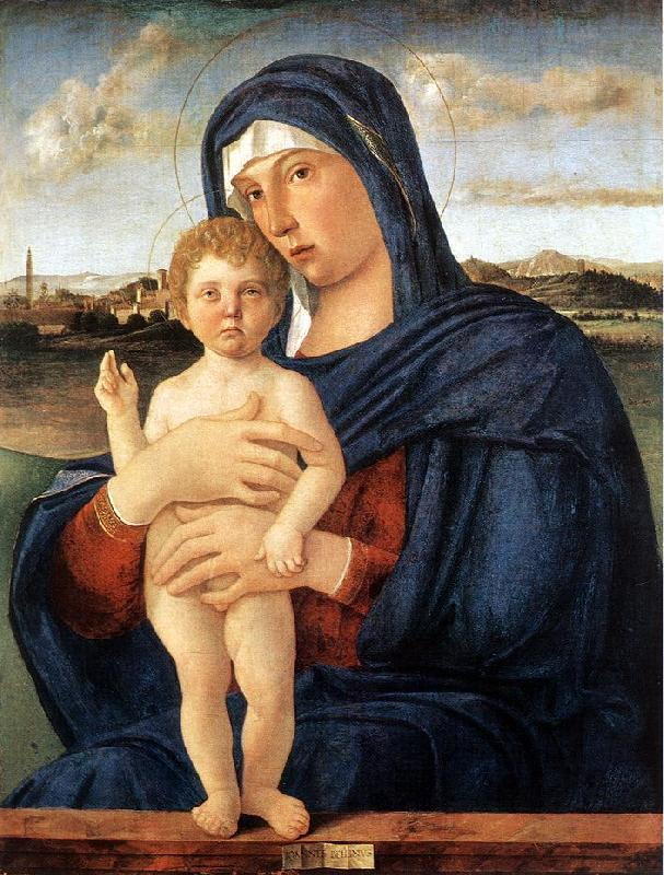 BELLINI, Giovanni Madonna with Blessing Child 23ru Sweden oil painting art