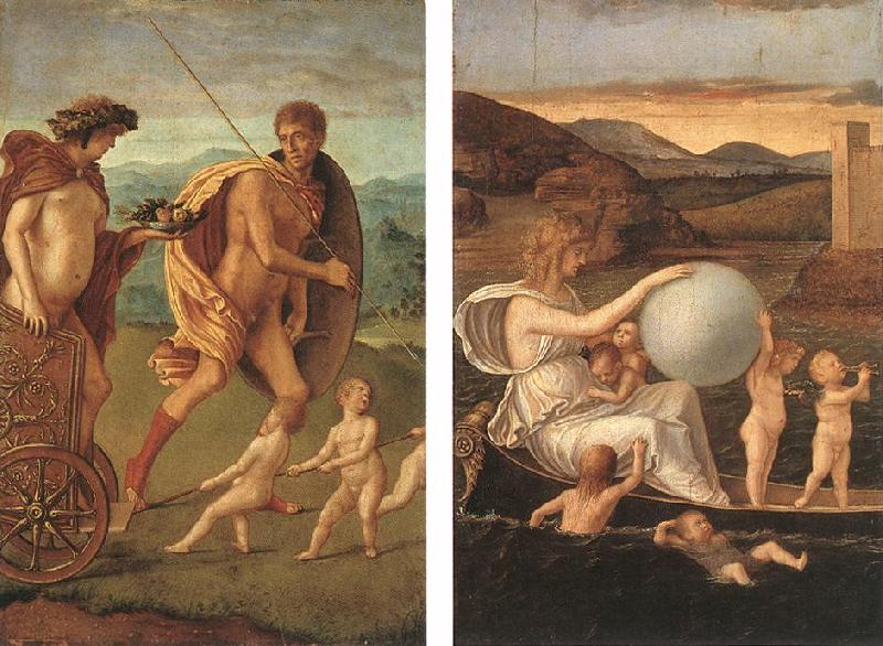 BELLINI, Giovanni Four Allegories: Perseverance and Fortune  ff Sweden oil painting art