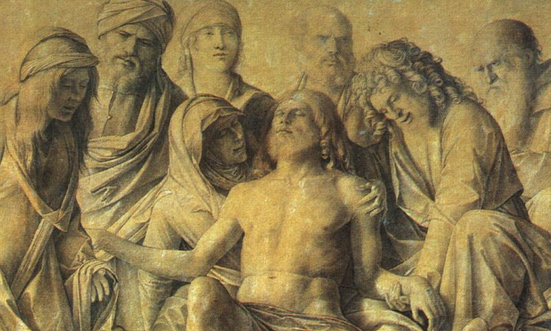 BELLINI, Giovanni The Lamentation over the Body of Christ dfh Sweden oil painting art