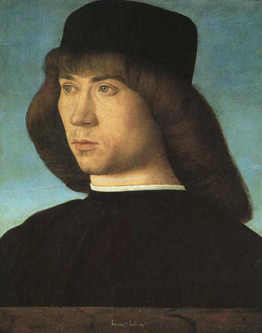 BELLINI, Giovanni Portrait of a Young Man 3iti Sweden oil painting art