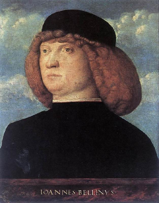 BELLINI, Giovanni Portrait of a Young Man xob Sweden oil painting art