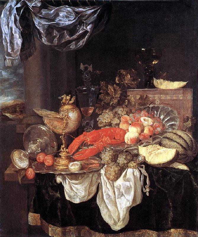 BEYEREN, Abraham van Large Still-life with Lobster Sweden oil painting art