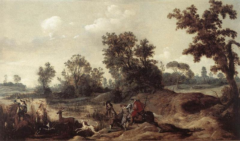 BLEKER, Gerrit Claesz Stag Hunting in the Dunes oil painting image