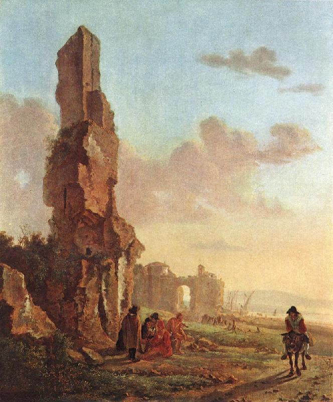 BOTH, Jan Ruins at the Sea dfg oil painting image