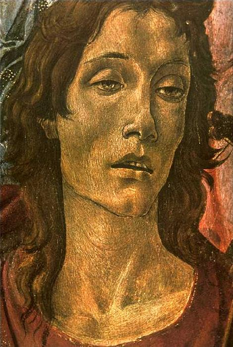 BOTTICELLI, Sandro San Barnaba Altarpiece (detail: head of St John) gdfg Sweden oil painting art