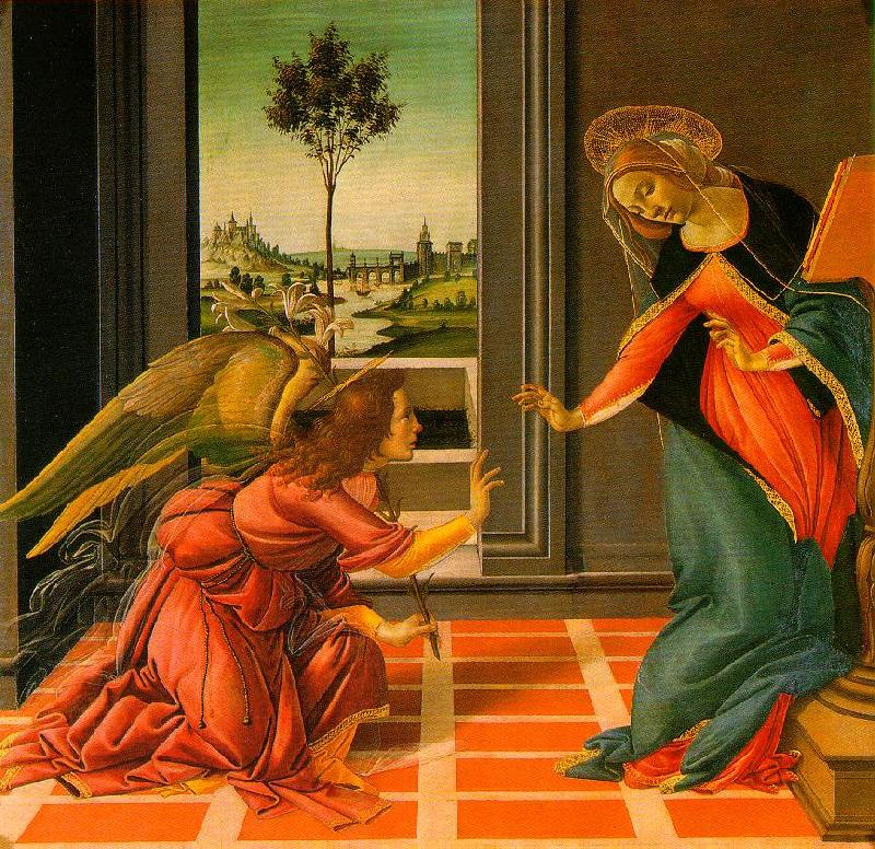 BOTTICELLI, Sandro The Cestello Annunciation dfg Sweden oil painting art
