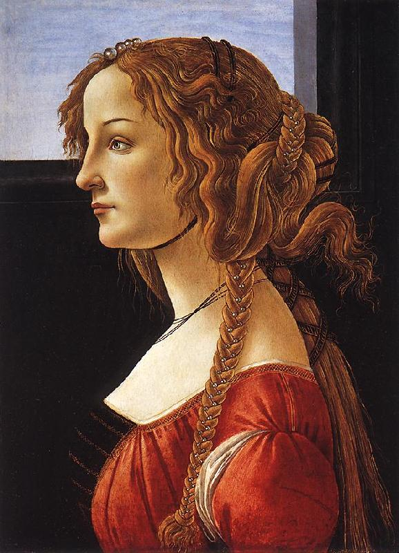 BOTTICELLI, Sandro Portrait of a Young Woman 223ff oil painting image
