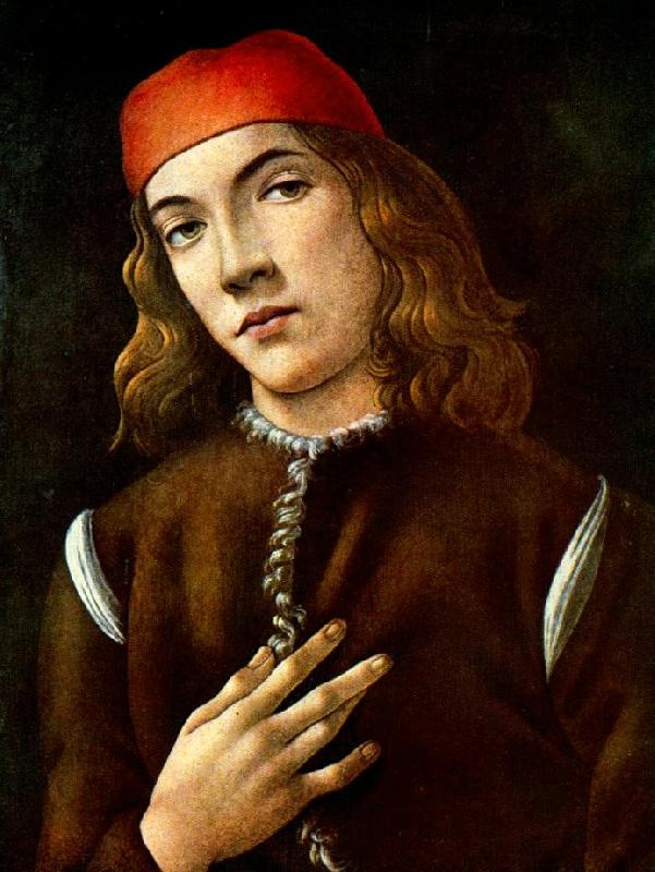 BOTTICELLI, Sandro Portrait of a Young Man  fdgdf oil painting image