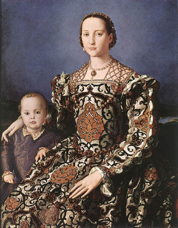 BRONZINO, Agnolo Eleonora of Toledo with her son Giovanni de  Medici oil painting image