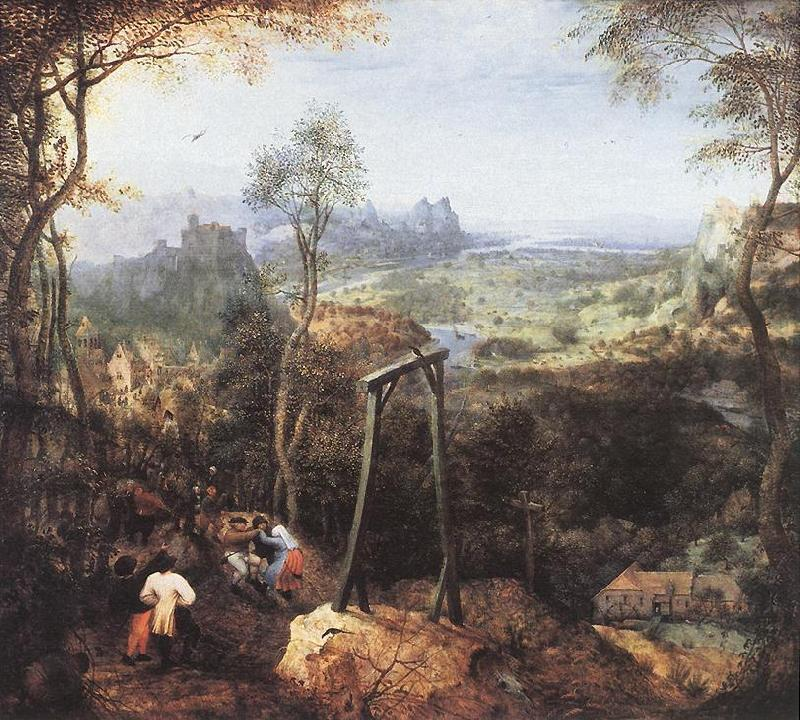BRUEGHEL, Jan the Elder Magpie on the Gallow fd Sweden oil painting art