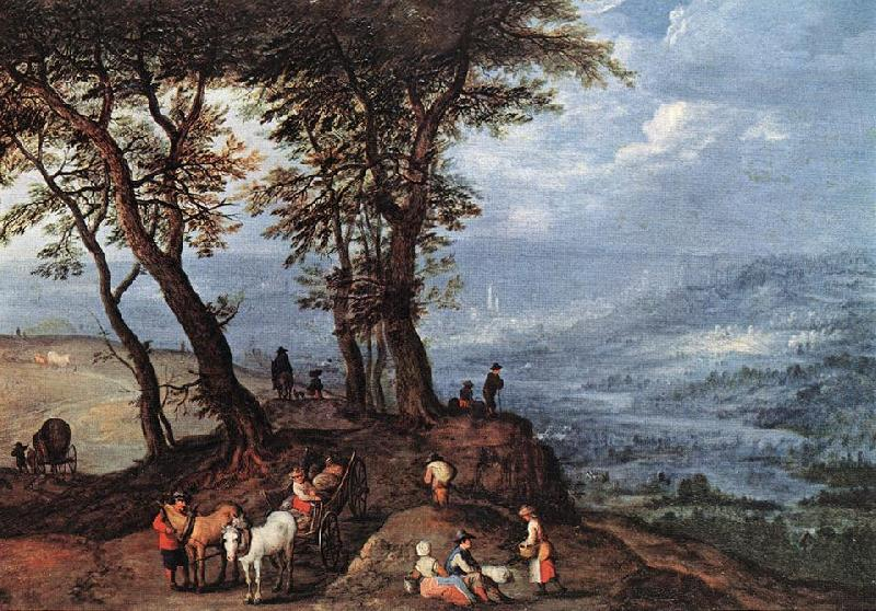 BRUEGHEL, Jan the Elder Going to the Market fdf oil painting image
