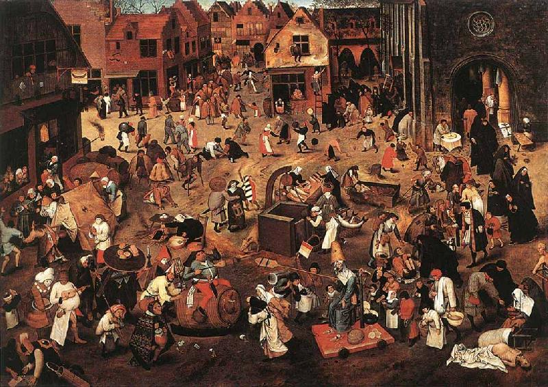 BRUEGHEL, Pieter the Younger Battle of Carnival and Lent f oil painting image