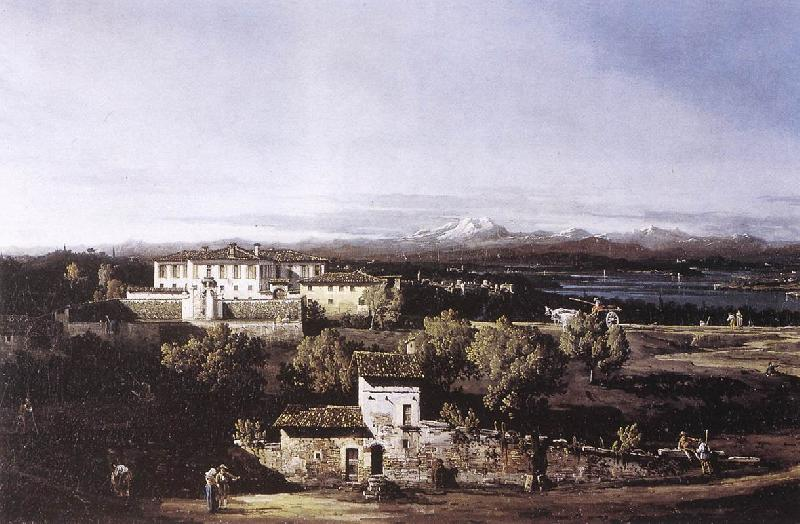 Bernardo Bellotto View of the Villa Cagnola at Gazzada near Varese oil painting image