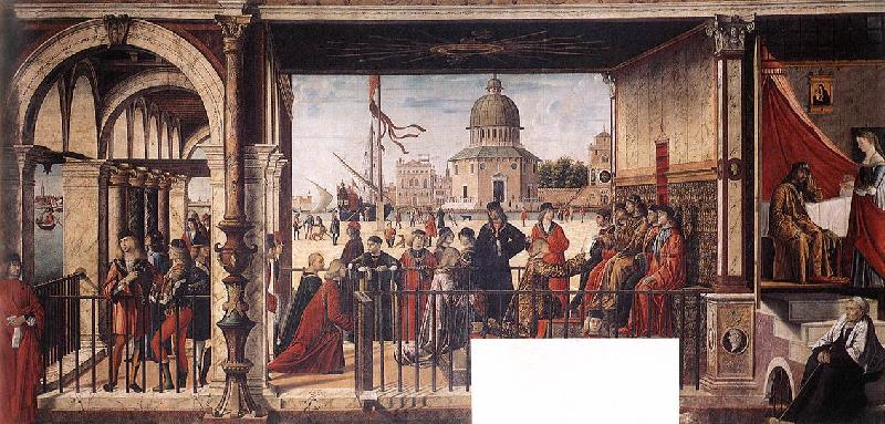 CARPACCIO, Vittore Arrival of the English Ambassadors g Sweden oil painting art