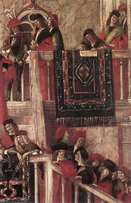 CARPACCIO, Vittore Meeting of the Betrothed Couple (detail) dfg Sweden oil painting art