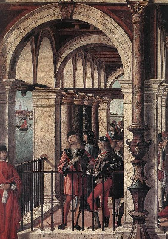CARPACCIO, Vittore Arrival of the English Ambassadors (detail) g Sweden oil painting art
