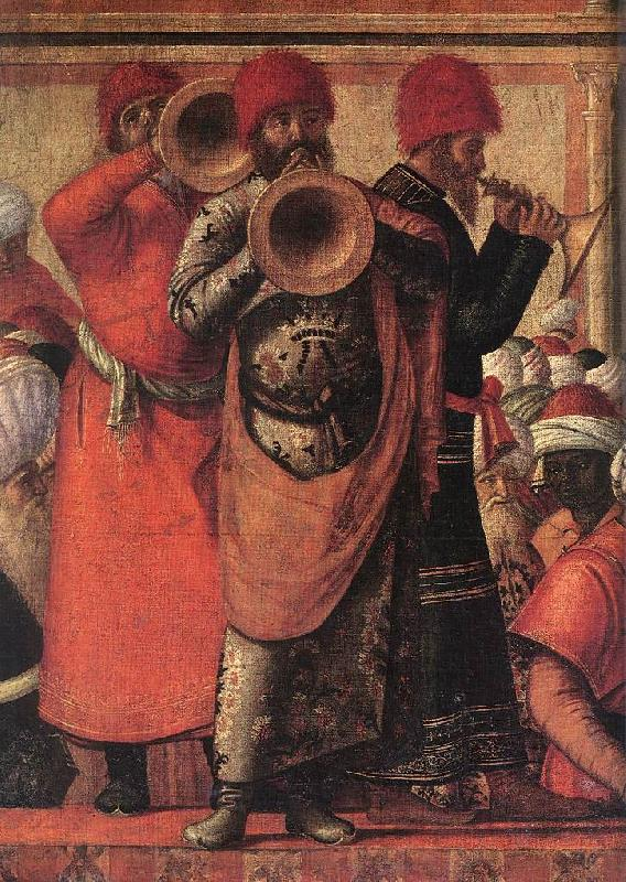 CARPACCIO, Vittore The Baptism of the Selenites (detail) ds Sweden oil painting art