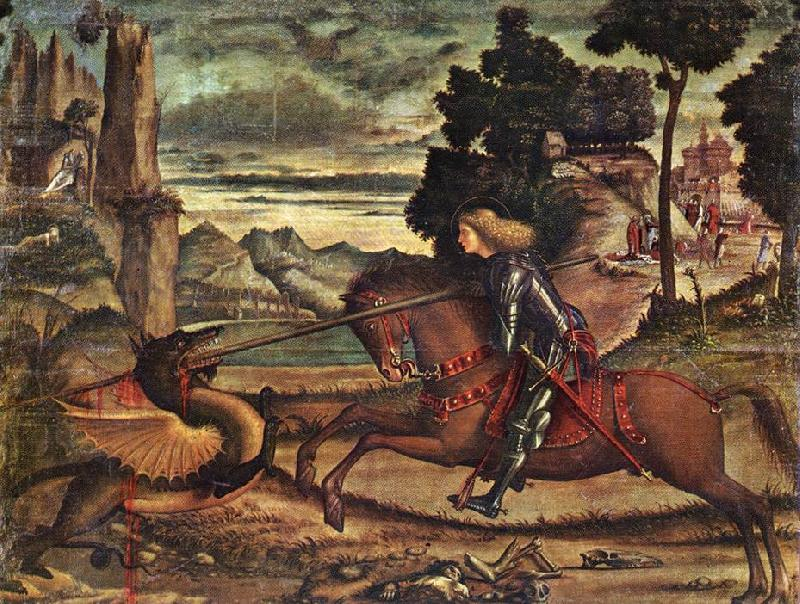CARPACCIO, Vittore St George and the Dragon (detail) dfg Sweden oil painting art