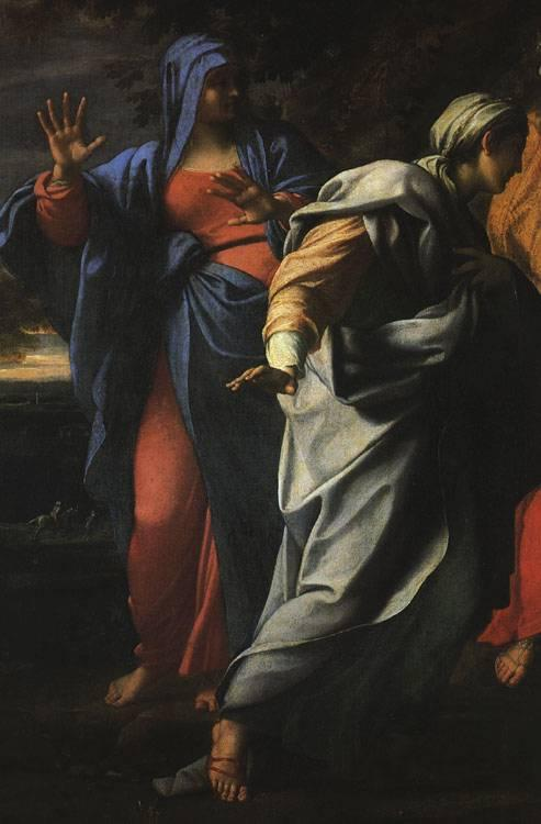 CARRACCI, Annibale Holy Women at the Tomb of Christ (detail) fg Sweden oil painting art