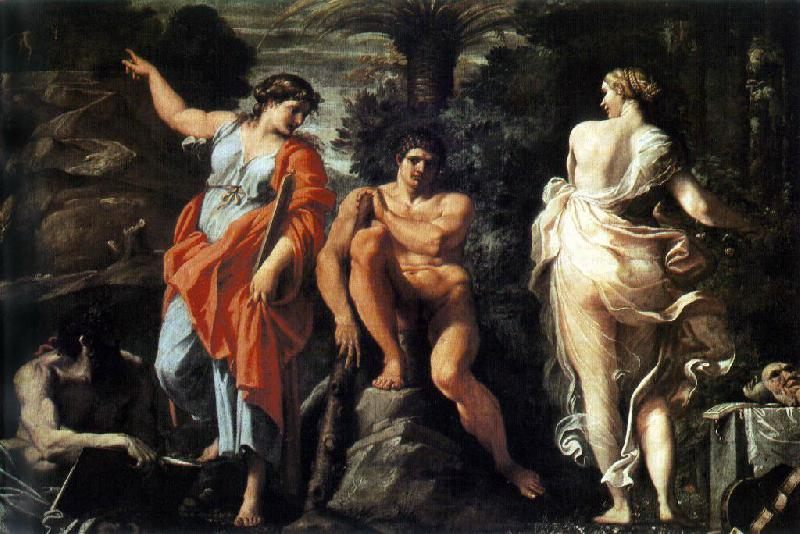 CARRACCI, Annibale The Choice of Heracles sd oil painting image