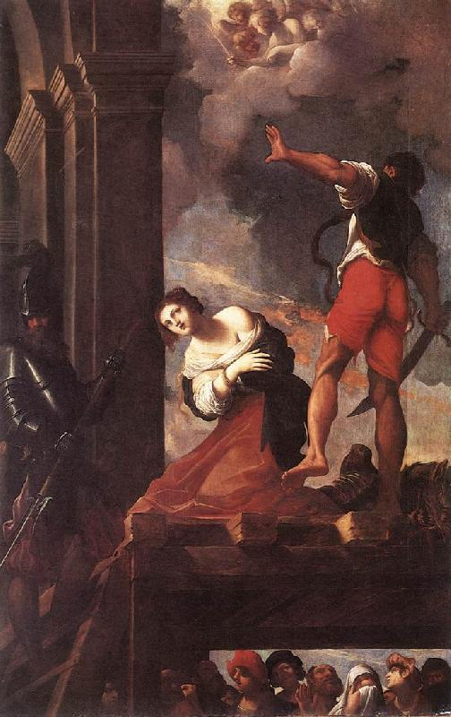 CARRACCI, Lodovico The Martyrdom of St Margaret fg Sweden oil painting art