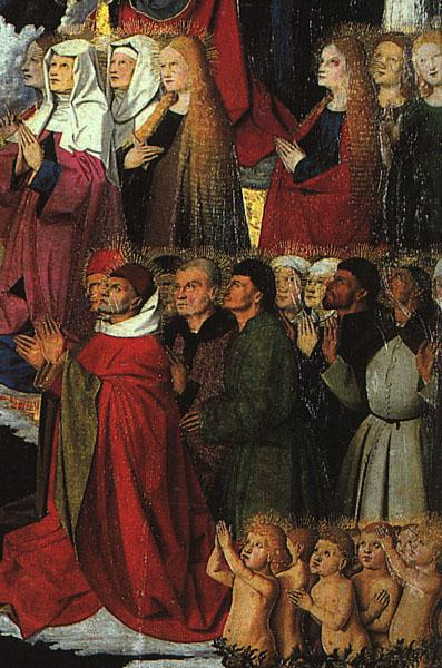 CHARONTON, Enguerrand The Coronation of the Virgin, detail: the crowd iyu oil painting image