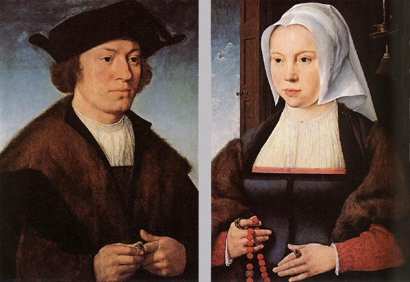 CLEVE, Joos van Portrait of a Man and Woman dfg Sweden oil painting art