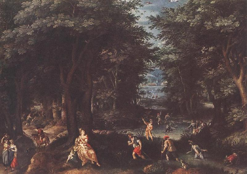 CONINXLOO, Gillis van Landscape with Leto and Peasants of Lykia fsg oil painting image