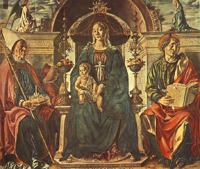 COSSA, Francesco del Madonna with the Child and Saints dfg oil painting image