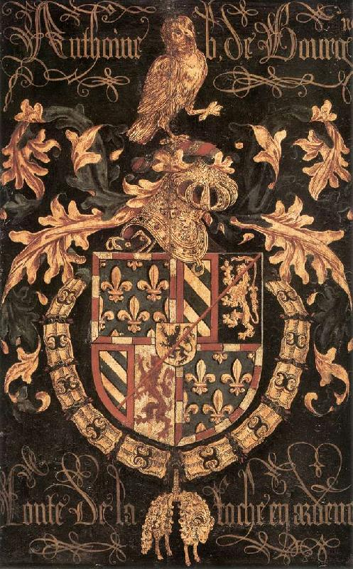 COUSTENS, Pieter Coat-of-Arms of Anthony of Burgundy df Sweden oil painting art