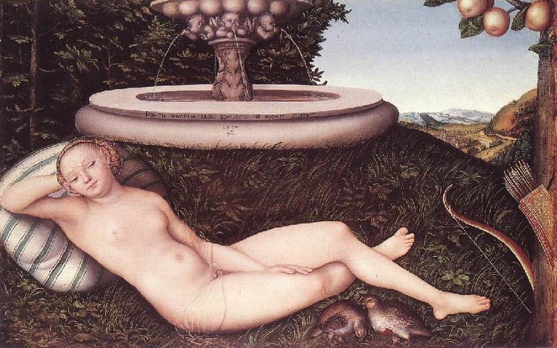 CRANACH, Lucas the Elder The Nymph of the Fountain fdg Sweden oil painting art