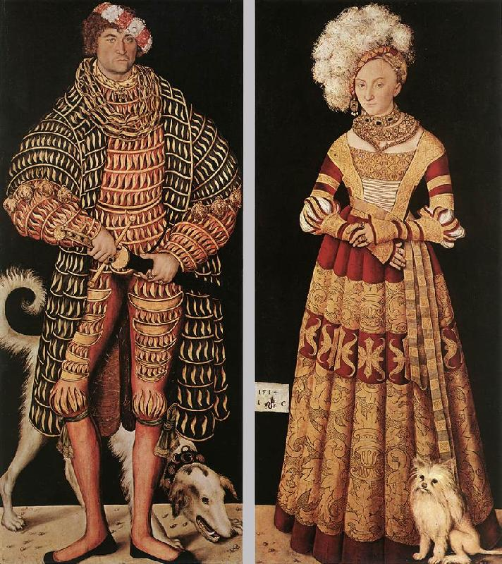 CRANACH, Lucas the Elder Portraits of Henry the Pious, Duke of Saxony and his wife Katharina von Mecklenburg dfg Sweden oil painting art