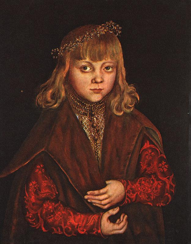 CRANACH, Lucas the Elder A Prince of Saxony dfg Sweden oil painting art